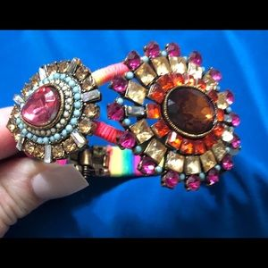 Betsey Johnson hinged crystal bracelet